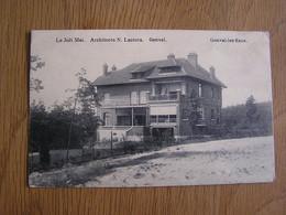GENVAL LES EAUX Le Joli Mai Architecte Lacroix Commune La Hulpe Brabant Wallon België Belgique Carte Postale Post Card - Genappe