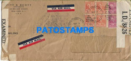 165029 US NEW YORK COVER CANCEL YEAR 1942 CENSORED MULTI STAMPS NO POSTAL POSTCARD - Unclassified