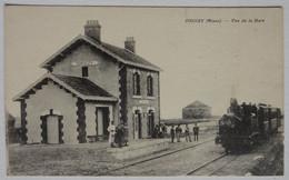 Cpa Droizy, Aisne, Vue De La Gare, Train, Locomotive - Other Municipalities