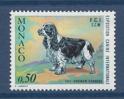 ⭐ Monaco - Yt N° 862 - Neufs Sans Charnière - 1971 ⭐ - Unused Stamps