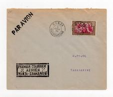 !!! MADAGASCAR, 1ER COURRIER AERIEN MANJA - TANANARIVE. LETTRE PAR AVION DU 4/1/1938 - Covers & Documents