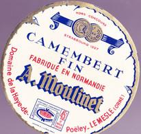 ÉTIQUETTE DE FROMAGE -  CAMEMBERT A. MOULINET - Cheese