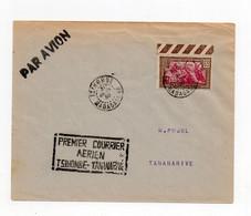 !!! MADAGASCAR, 1ER COURRIER AERIEN TSIHOMBE - TANANARIVE. LETTRE PAR AVION DU 31/1/1938 - Covers & Documents