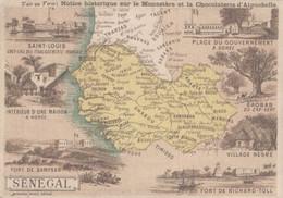 CHROMO CHOCOLAT D'AIGUEBELLE GEOGRAPHIE SENEGAL - Aiguebelle