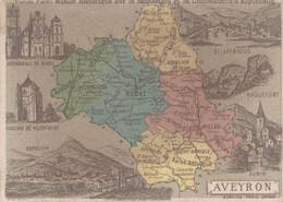 CHROMO CHOCOLAT D'AIGUEBELLE GEOGRAPHIE DEPARTEMENT DE L'AVEYRON - Aiguebelle