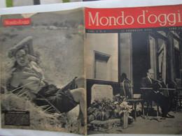 #  MONDO D'OGGI N 4 - 1946 - PARIGI 1946 / CRONACHE ITALIANE / POLLICULTURA / I. BERGMAN - Prime Edizioni