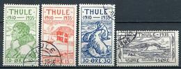 Dänemark Thule Nr.1, 2, 4 + 5        O  Used        (709) - Lokale Uitgaven