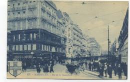 13/MARSEILLE - Rue De La Canebière - CARTE ANIMEE TONS BLEUS - Canebière, Stadscentrum