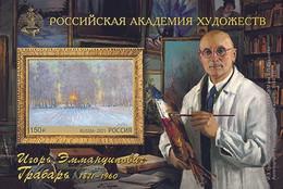 RUSSIE/RUSSIA/RUSSLAND/ROSJA 2021** MI.2963 (Bl.316),,ZAG..2745,YVERT. Paintings Of Igor Grabar MNH ** - Ungebraucht