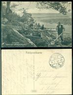 Deutsches Reich 1915 Feldpostkarte St. Souplet Beim Bau Von Unterständen - Occupation 1914-18