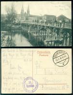 Deutsches Reich 1918 Feldpostkarte Maasbrücke Bei Stenay, Später Gesprengt - Occupation 1914-18