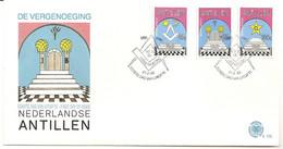 Antillen / Antilles 1985 FDC 173 Loge Freemasonry - Curaçao, Nederlandse Antillen, Aruba