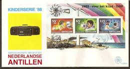 Antillen / Antilles 1988 FDC 206a Childwelfare Television Radio Computer S/S - Curacao, Netherlands Antilles, Aruba