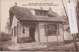 CPA - 91 - YERRES - Marcel MOIGNARD, Allée Vert, Type De Maison Bois Et Fibro-ciment - CARTE RARE - édit Bourdon à Yerre - Yerres
