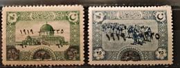 TURQUIE - 1920 N° 597 ** - 598 * (voir Scan) - Ongebruikt