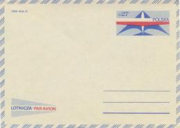 Poland Envelope Ck 70: Par Avion - Entiers Postaux