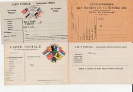 Lot De 4 Cartes - Correspondance Militaire / Des Armées De La République - Guerre 1914-18
