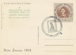 Poland Overprint Cp 523 D.03 War: Stamp Day 1972 Mermaid - Entiers Postaux