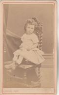 Photo CDV N° 241 - Fille Enfant - Photographe COURET ST GAUDENS Haute Garonne - Old (before 1900)