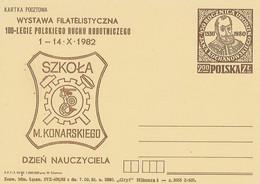 Poland Overprint Cp 765.01: Teacher Day M.Konarski Mermaid - Entiers Postaux