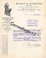 75 23698 PARIS SEINE 1920 Petrin Mecanique RAOULT - ROUBEYRIE Ingenieur Place De La Bastille Dest Grandidier De LEROUVIL - 1900 – 1949