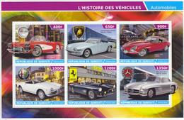 Republic Of Djibouti 2015 - Corvette-Lamborghini-Jaguar-Alfa Romeo-Ferrari-Mercedes  - 6v Feuillet  Neuf/Mint/MNH - Automobili