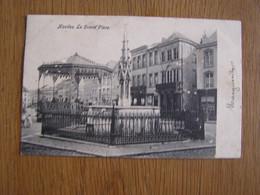 NIVELLES La Grand Place Kiosque Monument Animée Province Du Brabant Wallon België Belgique Carte Postale Post Card - Nivelles