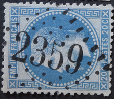 29A (cote 10 €) Obl GC 2359 Millas (65 Pyrénées Orientales ) Ind 6 ; Frappe Très Nette & TB Centrée - 1849-1876: Période Classique