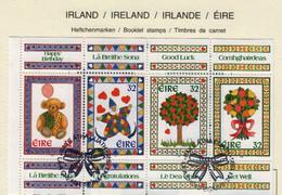 Irlande O N° Yv 885, 886, 887, 888; Feuillet De Carnet - Gebruikt