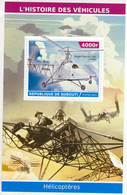 République Djibouti 2015  -  Vought-Sikorsky 300 (1940)   -   1v Miniature Sheet Mint/Neuf/MNH - Helicopters