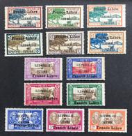 W&F 1941 - NEUF * / MH - YT 92+93+95+96+97+98+106+107+110+113+118+119+121 - FRANCE LIBRE - LUXE - CV 65 EUR - Nuevos