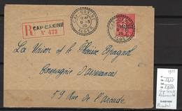 Algérie - Lettre Recommandée  Avec Cachet Type 84 - CAP CAXINE - 1925 - Covers & Documents
