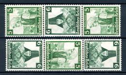 Deutsches Reich Zusammendruck MiNr. S 232 + S 234 Postfrisch MNH (Y258 - Se-Tenant