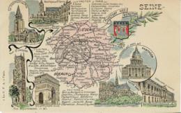 75*Seine* (Paris) - Nos Départements - A Visiter Paris, Sceaux, Saint Denis - Lot 4 CPA (voir Scan) - Ohne Zuordnung