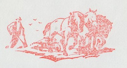 Meter Cover Netherlands 1982 Plowing - Horse - Landbouw