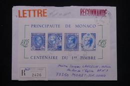 MONACO - Enveloppe En Recommandé Pour La France En 1988, Affranchissement Recto / Verso - L 101103 - Lettres & Documents