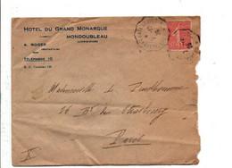 LETTRE A EN TETE HOTEL DU GRAND MONARQUE à MONDOUBLEAU LOIR ET CHER 1926 - 1921-1960: Modern Tijdperk