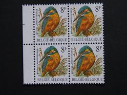 Buzin Belgie Blok 4 Ijsvogel 2240 Witte Ongelijnde Gom RRR - 1985-.. Birds (Buzin)