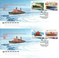 Russia 2009 Mi 1552-1555 FDC  (FDC ZE4 RSSpar1552-1555) - Barcos