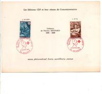 ENCART DE VOEUX CROIX ROUGE 1969 - Matasellos Conmemorativos