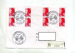 Lettre Recommandée Audincourt Congres Theme Voiture - Cachets Commémoratifs