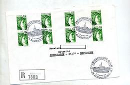 Lettre Recommandée Audincourt Congres - Cachets Commémoratifs