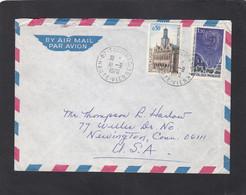 LETTRE DE SOLIGNAC POUR NEWINGTON,CONNECTICUT,U.S.A.. - Lettres & Documents