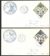 Monaco  1968  Oceanographic Museum Cachet  With 1958 UNESCO Stamps On Covers. - FDC