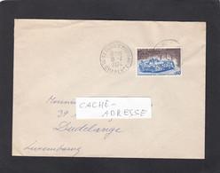 """LETTRE DE ST. DENIS D'HIERSAC,AVEC TIMBRE """"VOITURE DE COURSE/24 HEURES DU MANS"""" POUR DUDELANGE,LUXEMBOURG. - Lettres & Documents"""