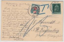Bayern - 5 Pfg. Luitpold, Karte/Nachporto I.d. SCHWEIZ Rothenburg 1912 N. - Bavaria