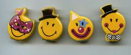 FEVES - FEVE - SERIE SMILEY WORLD - LA FETE - 2013 - LOT DE 4 FEVES - Autres