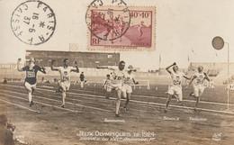 Jeux Olympiques De 1924 - Arrivée Du 100m - Abrahams 1er (carte Rare De 1924) - 1930-39