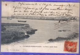 Carte Postale 62. Etaples Paris-Plage  Le Port à Marée Basse  Très Beau Plan - Etaples
