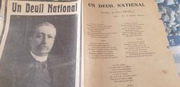 CHANSON POLITIQUE /UN DEUIL NATIONAL /MAURICE BERTEAUX /MARC VEHELL - Partitions Musicales Anciennes